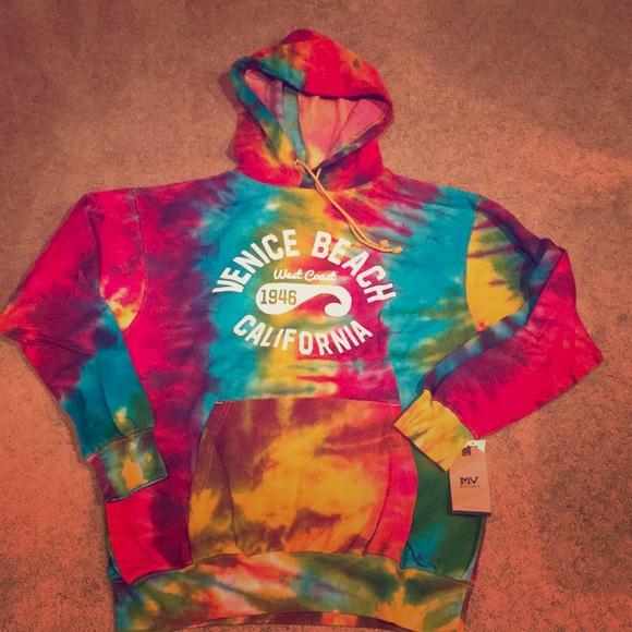 MV Sport Jackets & Blazers - Tie dye hooded sweatshirt